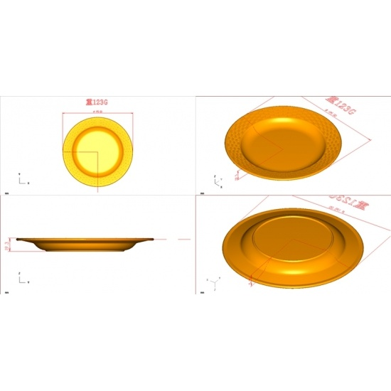 Melamine Plate Mold With Bamboo Design