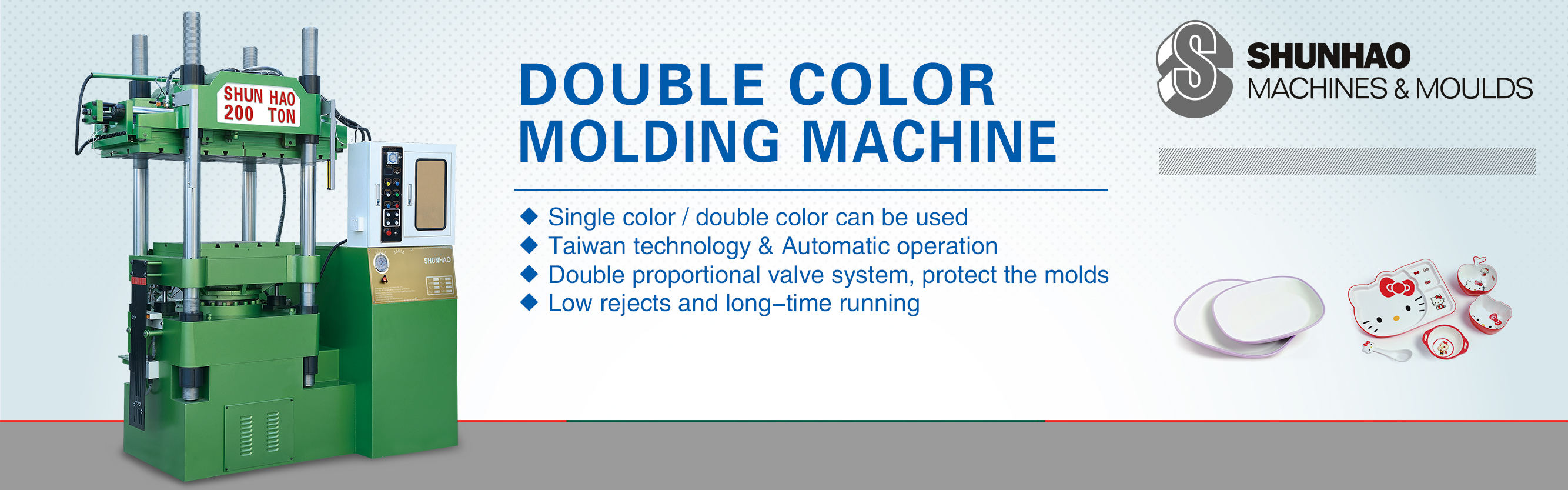 2Color Melamine Crockery Automatic Molding Machine